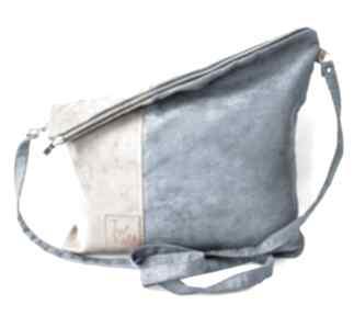 Flor duo torebki just catch handmade zamszekologiczny, ekoskóra,