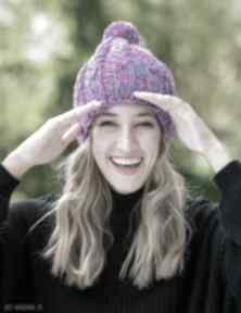 Smile blue stone czapki brain inside czapka, zimowa, wełniana