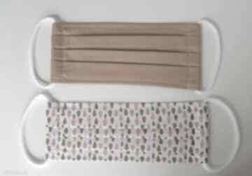 Bawełniana maseczka wielorazowa jednowarstwowa zestaw szt gotowe