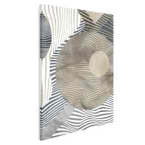 Obraz na płótnie - koła linie abstrakcja złoto w pionie 50x70 cm