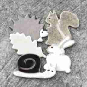 Zestaw magnesów jesiennych magnesy pracownia ako ceramika
