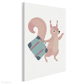 Obraz na płótnie - dziecięcy zwierzę wiewiórka 50x70 cm 80203