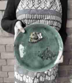 Talerz dekoracyjny z żabą ceramika wylegarnia pomyslow ceramika