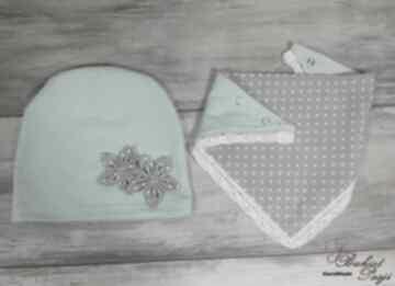 Czapka trójkątem kominem apaszką szalik apaszka prezent wykonany
