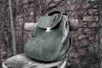 Lilith plecak torba zielona skóra czajkaczajka pullup, skóra