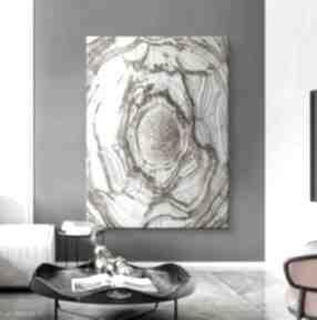 Velvet waves - wielkoformatowy obraz na płótnie abstrakcyjny