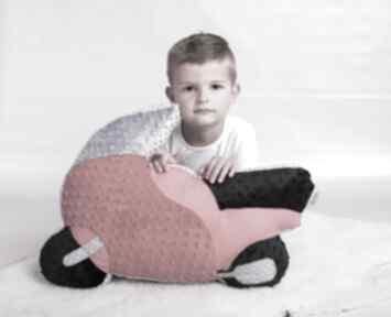 Poduszka dziecięca motocykl maskotki ateliermalegodesignu