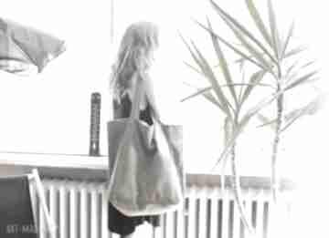 hairoo? Big Lazy bag duża, bawełniana, khaki torba na zamek /