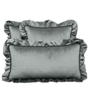 Poduszki dekoracyjne komplet 3 welur szarość od majunto zestaw