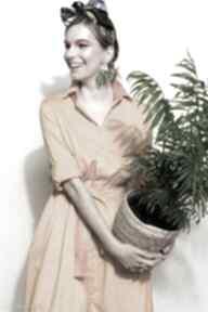 Szmizjerka miodowa solar sukienki kasia miciak design midi