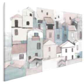Obraz na płótnie - domki kolorowy miasto 120x80 cm 703601 vaku