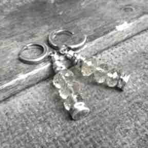 Kolczyki ze srebra i cytrynów treendy srebra, wiszące