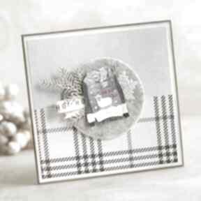 Pomysł jaki prezent pod choinkę. Kartka świąteczna scrapbooking
