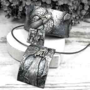 Biżuteria anioły - oryginalny komplet biżuterii kameleon anioły,