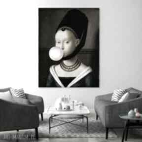 Canvas obraz płótno dziewczyna z balonem 50x70 cm hogstudio