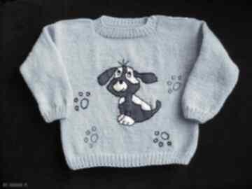 Zamówienie - sweterek z pieskiem: gaga art sweterek, rękodzieło,