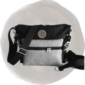 Torebka modułowa black 4w1 - taupe torebki tasha handmade