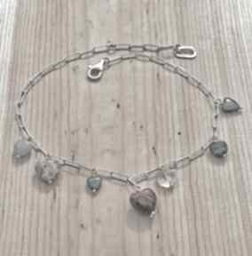 Naszyjnik z serduszkami naszyjniki zgustem srebrny, serce