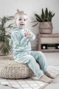 Dres aqua - welur bejbistory dziewczynka, rękodzieło, dres