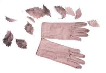 Rękawiczki czerwone dzianinowa krótkie one size ruda klara