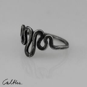 Srebrny pierścionek rozm 15 - 190511 -01 caltha pierścionek