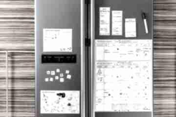 Planer kalendarz miesięczny magnetyczny na lodówkę dla rodziny