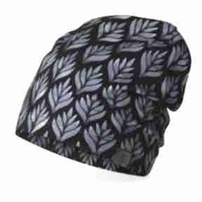 Czarna czapka wiosenna, lekka do biegania czapki ekoszale