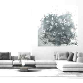 Obraz akrylowy ręcznie malowany 80x80 byferens turkusowy