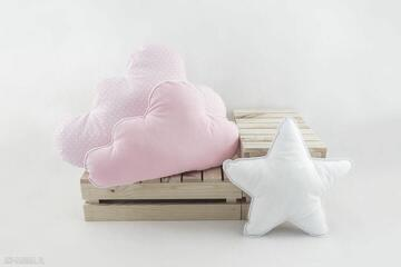 Zestaw 3 poduch różowy pokoik dziecka nunli róż, różowa