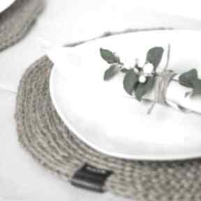 Podkładka pod talerz jutowa rustykalna 26 cm podkładki praski