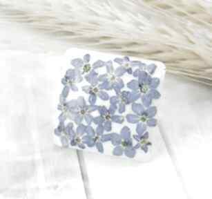 1265 mela pierścionek z żywicy niezapominajki art pierścionek