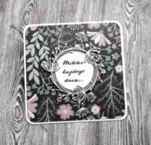Kwiecista miłość scrapbooking kartki cynamonowe ślub, urodziny