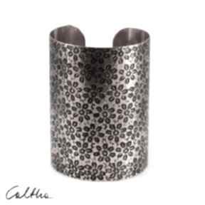 Kwiatuszki - miedziana bransoleta 210412 -01 caltha bransoleta