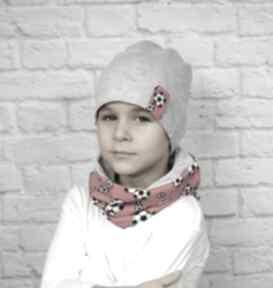 Cienka czapka komin chłopak wiosenna bawełna wykonany ogromną