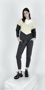 Komplet dresowy wirginia szary sportowe trzyforu dres, spodnie