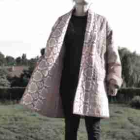 PatchworkArt: Płaszcz patchworkowy długi w stylu boho, kimonowy