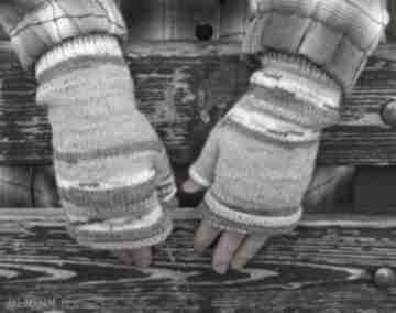 Mitenki w pastelach rękawiczki jaga11 eleganckie, lekkie