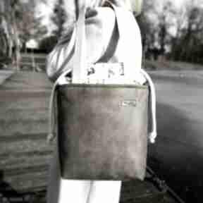 Duża torba z kominem - khaki na ramię musslico torba, z-kominem