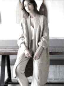 Płaszcz sweter sintra swetry dziane płaszcz, sweter, wełniany
