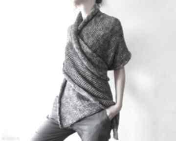 Melanżowy dzianinowy szal z grubej bawełny szaliki anna damzyn