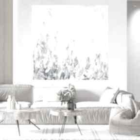 Obraz ręcznie malowany 90x90 byferens duży abstrakcyjny