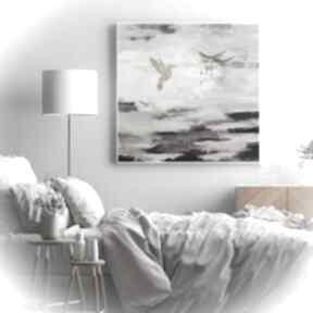 Pudrowa skała - obraz ręcznie malowany na płótnie 80x80 cm art