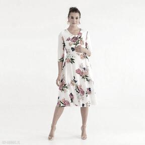 Sukienka 5 ss 2021 sukienki pawel kuzik kolorowa, kwiaty, letnia