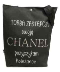 Torba z chanel na ramię gaul designs torba, pojemna