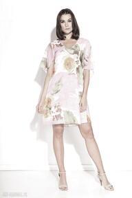 Sukienka polla sukienki pawel kuzik pastelowa, zwiewna, luźna
