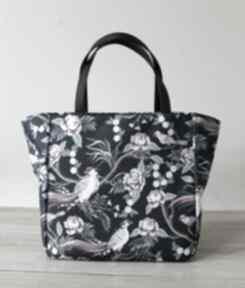 Pomysły na prezenty święta. Shopper bag - rajskie ptaki na ramię