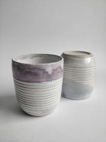 Dwie szklanki ceramiczne ceramika kate maciukajc ceramika