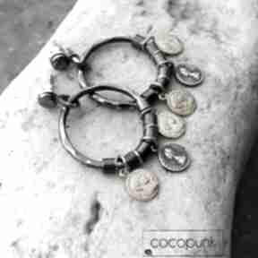 Cocopunksrebro-i-złoto srebrno-złote koła z-monetkami bogate