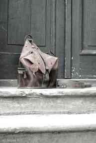 Skórzany plecak i torba na ramię 2 w 1, unikalna skórzana