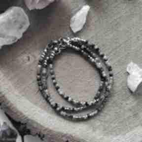 Bransoletka z turmalinem viii reveal z-minerałami, prezent